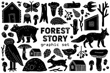 """""""Forest Story"""" Graphic Set"""