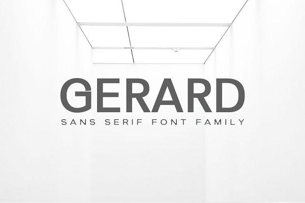 Gerard Sans Serif Font Family