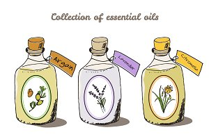 Collection of essential oils
