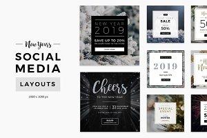 New Years Social Media Layouts