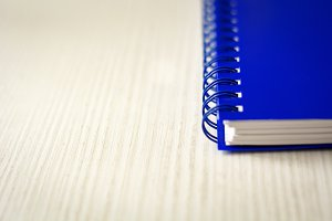 Spiral notebook isolated