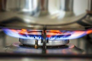Blue glowing flame burning