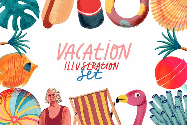 Illustrations: Anny - Vacation Gouache/Acrylic Set