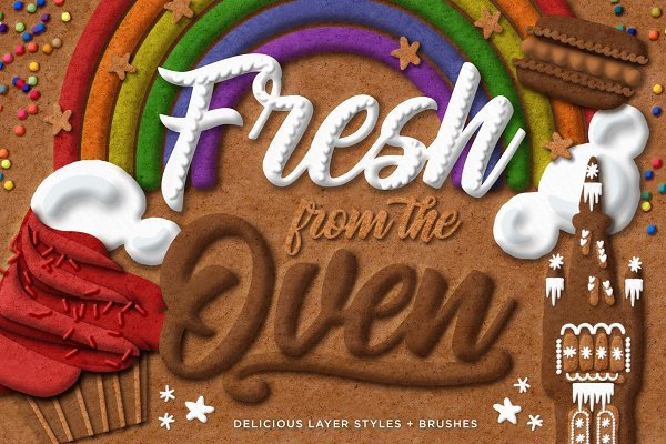 Photoshop Layer Styles: Creators Couture - Fresh from the Oven Delicious Styles