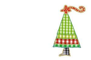 Funny children's Christmas tree card