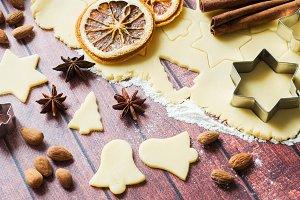 Ingredients for making cookies