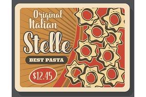 Stelle pasta retro poster