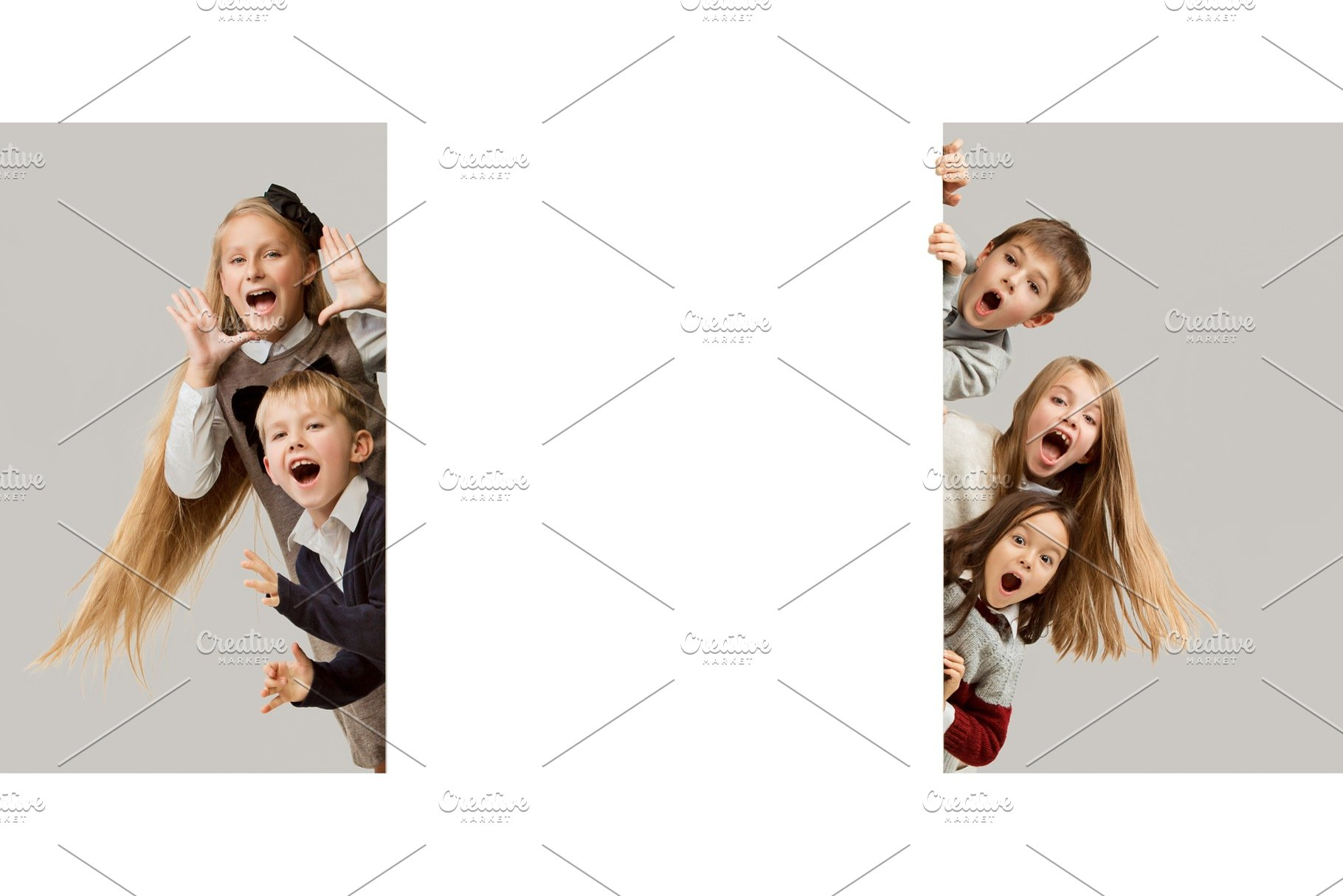 0c46e08fe5c3 Banner with a surprised children ~ People Photos ~ Creative Market