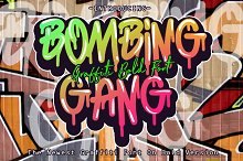 BOMBING GANG GRAFFITI BOLD FONT by  in Blackletter Fonts