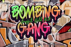 BOMBING GANG GRAFFITI BOLD FONT