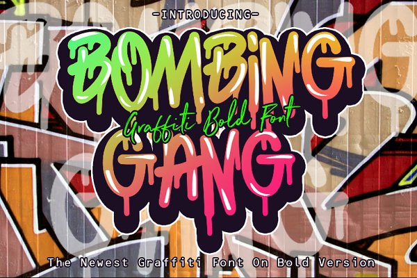Fonts: fluffyartstudio - BOMBING GANG GRAFFITI BOLD FONT