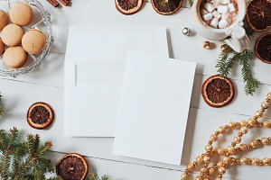 Christmas Wedding Invitation Mockup