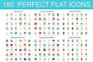 180 flat classic icons
