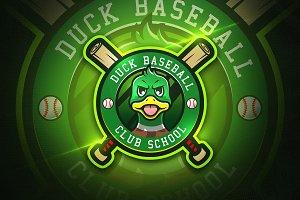 Duck Baseball - Mascot & Esport logo