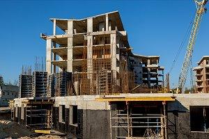 monolithic housing construction site