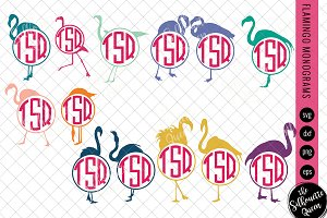 Flamingo Svg, Monogram Svg
