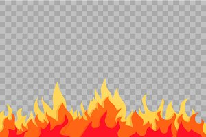 Cartoon fire vector illustration