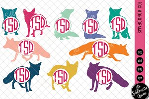 Fox Svg, Monogram Svg, Circle Frames
