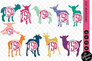 Goat Svg, Monogram Svg, Circle Frame