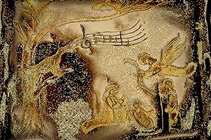 Nativity Scene and bird singing