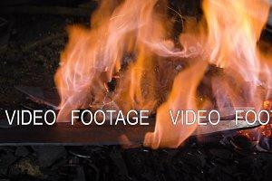 Blacksmith furnace with burning