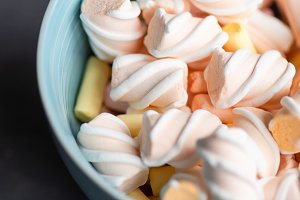 Sweet concept with marshmallow