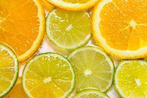 juicy citrus textured background