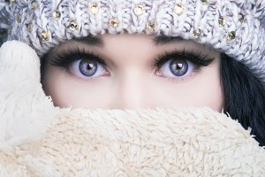 girl in winter cold