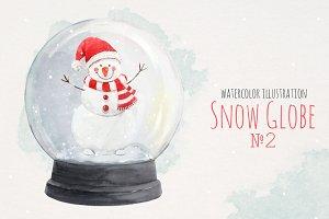 Christmas Snow Globe №2 PNG + PSD