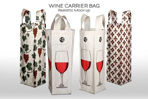Wine Bottle Fabric Carry Bag