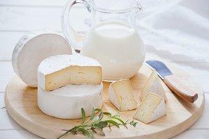 Natural cheese camembert