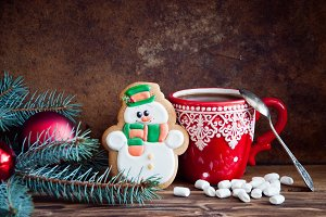 Hot chocolate and gingerbread