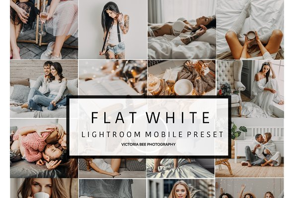 Mobile Lightroom Preset FLAT WHITE