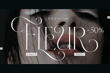 Fleur (50% Complete pack) by  in Fonts
