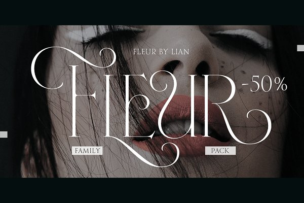 Fonts: Sproviero-Type - Fleur (50% Complete pack)