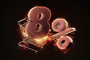 Burning shopping cart