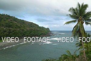 Seascape with tropical island, beach