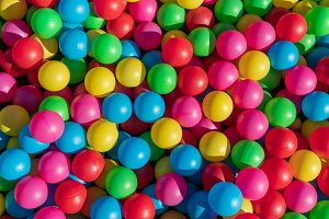 Colored child game balls background