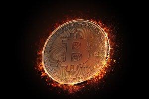 Burning bitcoin coin