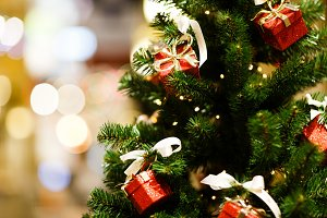 Photo of decorated Christmas fir