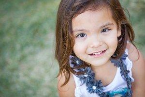 Cute Mixed Race Toddler Girl