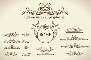 Renaissance Vector Calligraphy