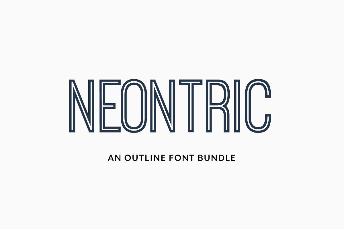 NEONTRIC - An Outline Font Bundle ~ Sans Serif Fonts ~ Creative Market
