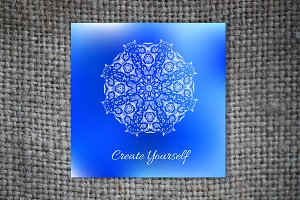 """Create Yourself"". Decorative card."