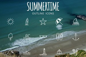 Summertime. A perfect summer iconset