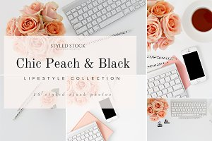 Chic Peach & Black Photo Collection