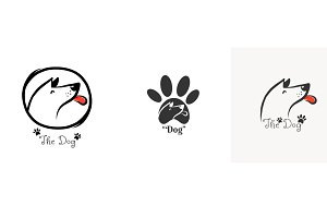 Dog logo set vector illustration