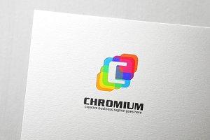 Chromium Letter C Logo