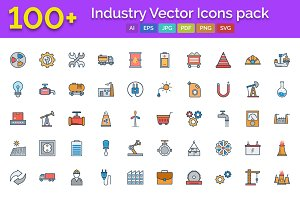 100+ Industry Vector Icons pack