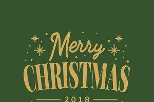 Set of Christmas greeting badge
